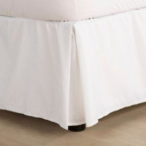 damask by charter club white bed skirt - full